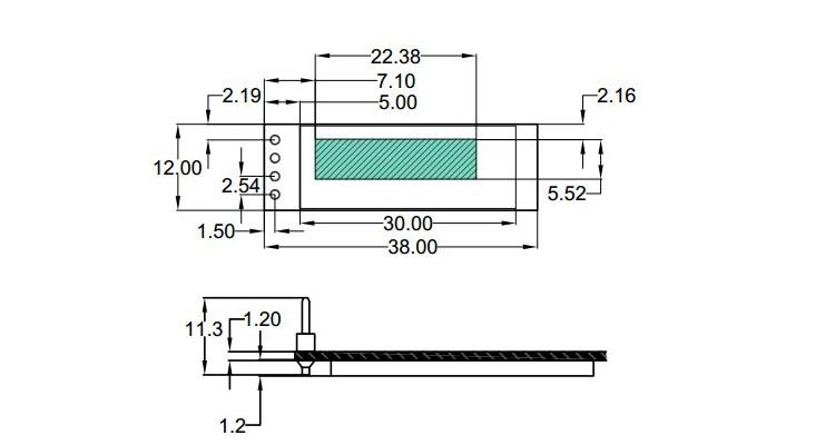 0.91吋 OLED IIC 12832 液晶屏顯示模組