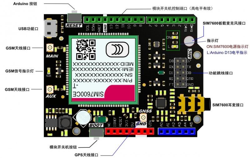 Arduino 4G Lite 擴展板 SIM7600CE-T 4G