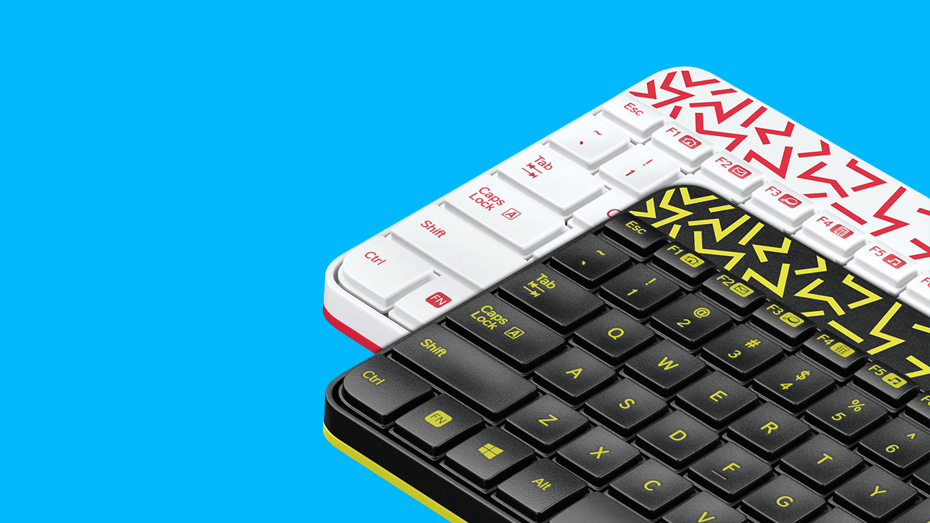 MK240 Wireless Keyboard Unique design with a splash of color